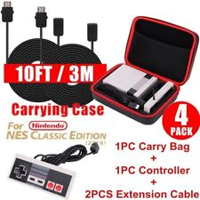 Nintendo NES Classic Mini Edition Carry Bag+Controller Gamepad+Extension Cable