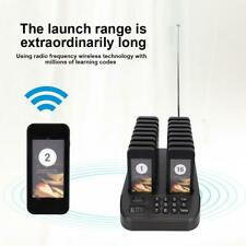 Restaurant Wireless Coaster Pager Guest Paging System 1*Transmitter + 16*Pagers