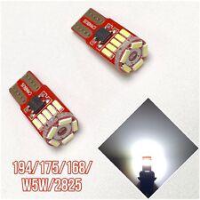 T10 W5W 168 194 2825 12961 White LED Bulb License Plate Light Canbus B1 U