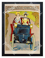 Historic Continental tyres 1890s Advertising Postcard