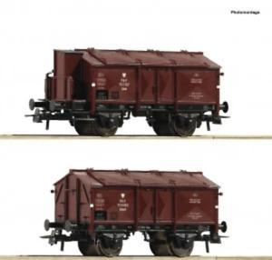 Roco 76043 HO Gauge PKP K15 Hinged Lid Wagon Set (2) III