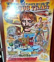 THE STONG GREAT CIRCUS TRAIN POSTER PRINT 1999 SIZE 24''BY 18'' BEAUTIFUL COLORS