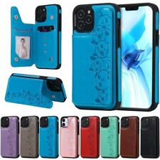 10pcs/lot Shatter-Resistant Six-cat Heads Leather Back Case for iPhone Samsung