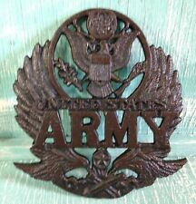 United States Army Plaque Trivet Wall Decor Cast Iron Veteran New 8 3/8 Inches