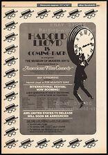 HAROLD LLOYD__Original 1976 Trade Print AD promo / poster__FOR HEAVEN'S SAKE