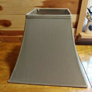 """Mid Century Light Sage Square Lampshade 7"""" Square Top 15"""" Square Bottom 11"""" Tall"""