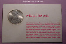 1780 AUSTRIA MARIA THERESA THALER IN SILVER UNCIRCULATED ON CARD