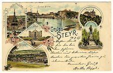STEYR OÖ Villa Werndl & Waffenfabrik / Arms Factory * AK um 1897 - ZIEHER Litho