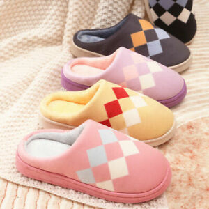 Ladies Womens Slippers Slip On Comfy Cozy Mules Memory Foam Size 3-8