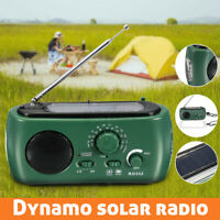 Générateur Fm / Am Solaire Manivelle Alimenté LED Radio Avec Lampe Téléphone U