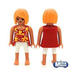 Playmobil Casa De Muñecas Playa Vacaciones Mujer en sommerkleidung Rojo Blanco