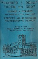 St Davids Diocesan Mission-Open To God Stradey Archbishops Sermon Cassette.1987.