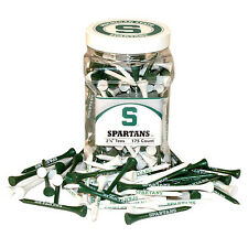 Michigan State Spartans 175 Count Golf Tees Green & White