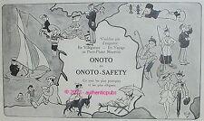 PUBLICITE ONOTO SAFETY PORTE PLUME RESERVOIR SIGNE MICH DE 1914 FRENCH AD PEN