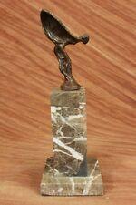 Sculpture Rolls Royce 100% Bronze Véritable Fantôme Mascotte Art Déco Statuette