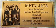Metallica Band Gold Plaque picture Free Post