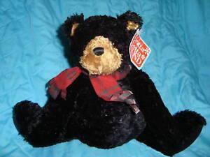 "Gund Black Bear ""Licorice"" 9"" Plush Beanbag Toy"
