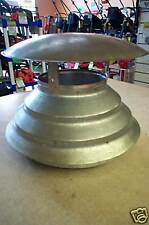 """WOOD HEATER Steel FLUE HAT COWL STAINLESS  6"""" - 10"""" New"""