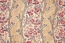 Antique French quilt fragment Pique c1810 LOVELY block printed design