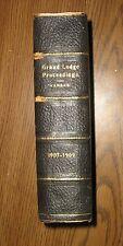 Vintage Proceedings of the Grand Lodge of Kansas,1907-1909,Freemasonry,Masonic