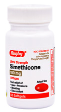 Rugby Ultra Strength Simethicone Antigas 180 mg - 60 Softgels  (Phazyme Ultra St