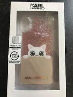 Karl Lagerfeld - Iphone X/Xs Cat Case - Brand New BNIB - Liquid/Glitter - Cover