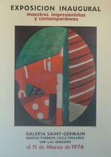 Max PAPART (1911-1994) Affiche d'art Caracas, Venezuela 1976. Cubisme Cubism