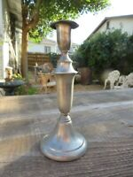 """Vintage Pewter Candlestick Candle Holder Plymouth USA -8"""" x 3 3/8"""""""