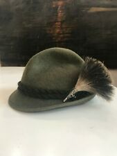 "Vintage REIN HAAR 90's Hat Size 7 1/4""  58 Green German"