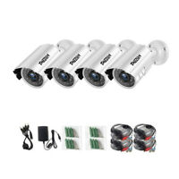 TMEZON 4pcs 1080P Outdoor Security Camera 2MP 3000TVL Home CCTV IR Night Vision