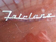 1955 1956 Ford FAIRLANE Chrome Hood Emblem Original Used Chrome NR
