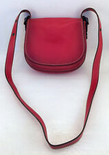 Coach Red Saddle Bag In Genuine Glovetanned Leather