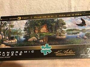 Buffalo Puzzle Freedom's Promise by Kim Norlien Panoramic 750 Pieces