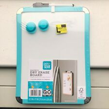 """NEW & Sealed: Pen + Gear Magnetic Dry Erase Board w/ magnets 8.5""""x 11"""" Teal Blue"""