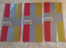 Lot of 3 Spritz Packs 20 sheets each- Red Silver Gold tissue paper New