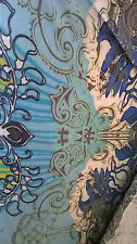 Blue patterned Jersey Fabric stretchy by the metre