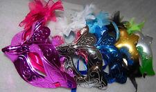 12 pcs Masquerade Party Feather Fantasy Masks weddings Ladies Venice cheap new