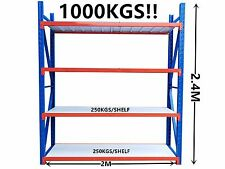 2.4Mx2M!! 1000KG!! Garage Warehouse Steel Storage Shelving Shelves Racking