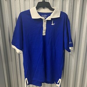 GREY GOOSE VODKA Polo Shirt Men's Medium Blue White Logo