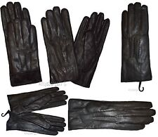 Leather gloves. (XL) Woman's Thick winter Leather Dress Gloves Black Warm Gloves