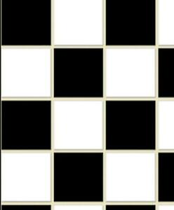 Dolls House Black & White Square Tile Sheet Kitchen Bathroom Wall or Flooring