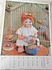 "Poster Antique Dolls Googly by Hertel Schwab & Co. Georgi Galerie 1990 18 1/2"""