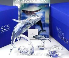 Swarovski Crystal Figurines 2012 Scs Paikea Whale 1095228 & Young Whale 1096741