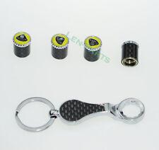 1Set Carbon Fiber Wrench Keychain Anti-theft Tire Valve Stem Caps for Lotus