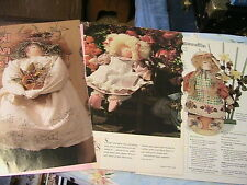 "3 Primitive Dolls~Mother~Jenni~Ragamu ffin 14"" + other sized cloth art doll ptns"