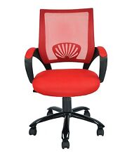 NEW Mid Back Mesh Ergonomic Computer Desk Office School Chair Red 548