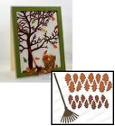 Impression Obsession OAK LEAVES AND RAKE Thin Die Set Steel DIE201-K