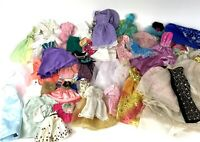 Vintage Lot Doll Clothes Dresses Gowns Skirts Assorted
