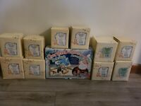 Cherished Teddies Santa Express Train Complete 10 Figurines Plus Track