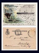 SOCIEDAD ESPANOLA DE SALVAMENTO DE NAUFRAGOS  POSTED 1904 TO RAVENSBURG GERMANY